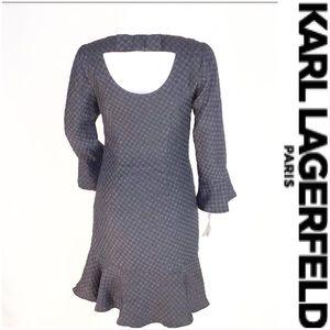NWOT Karl Lagerfeld Black & Blue Textured Dress